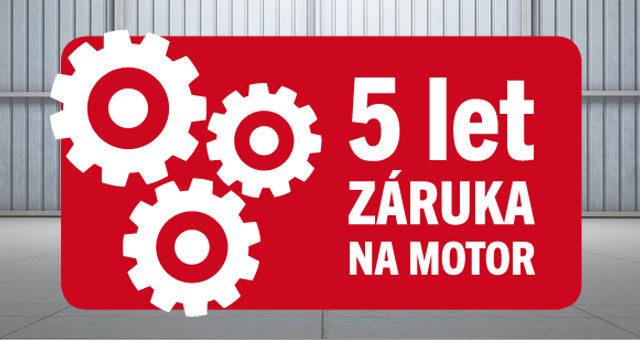 Jedinečná záruka 5 let na motor / Registrace