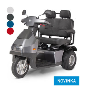 Afiscooter S3 / dvousedadlový / široké pneumatiky