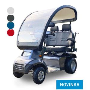 Afiscooter S4 / dvousedadlový / se střechou